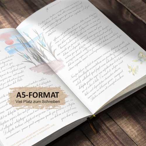 TAGEBUCH MIT LEBENSWEISHEITEN FÜR JEDEN TAG, Illustriert mit farbigen Aquarellen und schönen Spruechen zum Nachdenken, Luca Rohleder, ISBN 978-3-9823032-0-8