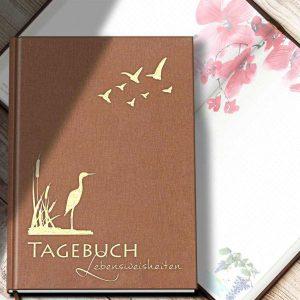 TAGEBUCH MIT LEBENSWEISHEITEN FÜR JEDEN TAG, Illustriert mit farbigen Aquarellen und schönen Sprüchen zum Nachdenken, Luca Rohleder, ISBN 978-3-9823032-0-8